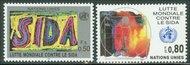 UNG 184-85  50c-80c Fiqht AIDS UN Geneva MI Blocks ung184mi