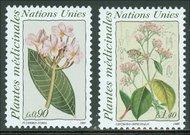 UNG 186-87  90c-1.40 fr. Med. Plants UN Geneva MI Blocks ung186mi