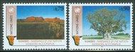 UNG 199-200  70c, 90c Namibia UN Geneva MI Blocks ung199mi