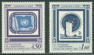 UNG 207-8   50c,1.60 Fr UNPA 40th UN Geneva MI Blocks ung207mi