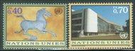 UNG 278-9 40c-70c Definitives UN Geneva Mint NH ung278