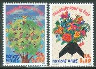 UNG 292-3 90c, 1.10 Fr. Plea/Peace UN Geneva Mint NH ung292