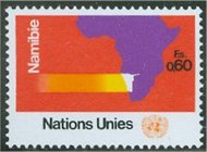 UNG 34    60c Namibia Inscrip Block Inscrip Blocks ung34ib