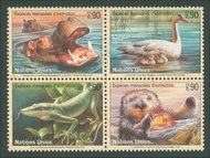 UNG 352-5  90c Endangered Species, Mini sheet of 16 * ung352sh