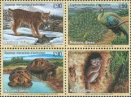 UNG 367-70s  90c Endangered Species, Sheetlet of 16* ung367sh