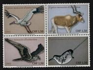 UNG 680-83 1.50 fr Endangered Species 2020  Block of 4 ung680-83