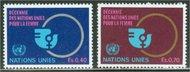 UNG  90-91 40c- 70c Decade for Women UN Geneva Mint NH ung90