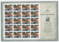 4921is War of 1812 Fort McHenry Imperf Sheet of 20 2921ish