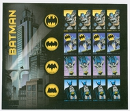 4928-35i (49c) Batman Imperf Sheet of 20 Mint NH 2928-31impSH