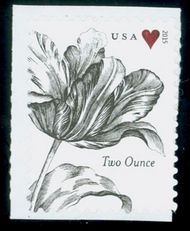5002 (71c) Vintage Tulip and Heart, Reissue Mint Single 5002nh