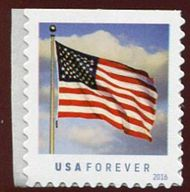 5054 Forever US Flag, Mint Single from Sennett Convertible Book 5054nh