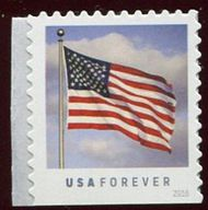 5055 Forever US Flag, Single from Potter Convertible Booklet 5055nh