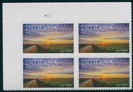 5091 Forever Indiana Statehood Plate Block 5091pb