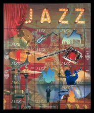 UNG 579 1fr International Jazz Day Souvenir Sheet g579ss