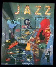 UNV 542 .70 International Jazz Day Souvenir Sheet v542ss