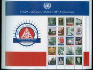 UNNY 1101 ASDA Personalized Sheet of 10 Mint NH unny1101