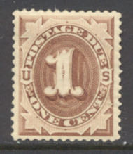 J  1   1c Brown 1879 Postage Due AVG Unused j1ogavg
