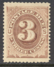 J  3 3c Brown 1879 Postage Due AVG Unused j3ogavg
