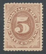 J  4 5c Brown, 1879 Postage Due Unused AVG j4ogavg