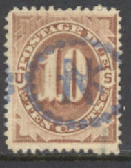 J  5 10c Brown, 1879 Postage Due AVG-F Used j5uavg