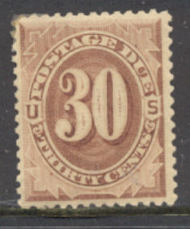 J  6 30c Brown, 1879 Postage Due AVG Unused j6ogavg