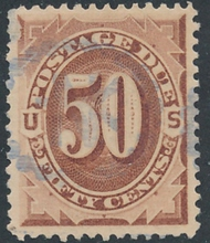 J  7 50c Brown, 1879 Postage Due F-VF Used j7usedmd