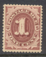 J 15 1c Red Brown 1884 Postage Due AVG Unused j15ogavg