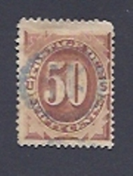 J 21 50c Red Brown 1884 Postage Due F-VF Used j21used