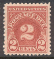 J 71 2c Carmine 1930 Postage Due F-VF Unused j710g
