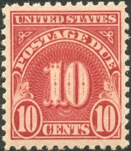 J 74 10c Carmine 1930 Postage Due Unused Minor Defects j74ogmd