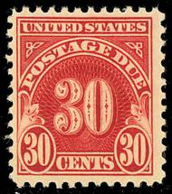J 75 30c Carmine 1930 Postage Due F-VF Unused j75og