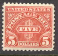 J 78 $5 Carmine 1930 Postage Due F-VF Mint NH j78nh