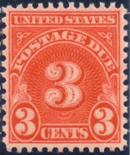 J 82 3c Carmine Postage Due F-VF Used   j82