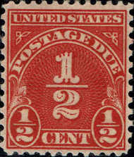 J 79 1/2c Carmine Postage Due F-VF Used j79nh