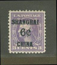 K 3 6c on 3c Washington Violet F-VF Mint NH K3nh