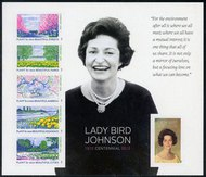 4716i Lady Bird Johnson Souvenir Sheet Imperforate 4716imp