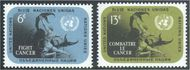 UNNY 207-08 6c-13c Fight Cancer UN New York Mint NH unny207