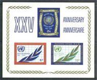 UNNY 212 6c-25c 25th Ann. S/S UN New York Mint NH unny212