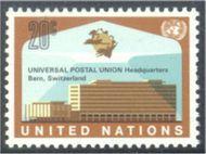 UNNY 219 20c U.P.U. Headquarters UN Mint NH Single unny219