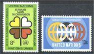 UNNY 220-21 8c-13c Racial Discrim.UN New York Mint NH unny220