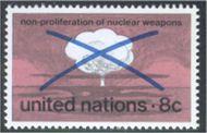 UNNY 227 8c No Nuclear Weapon UN unny227