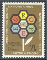 UNNY 231 21c Econ. Comm.-Europe UN New York Mint NH unny231
