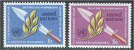 UNNY 234-35 8c-15c Disarmament Decade UN New York Mint NH unny234