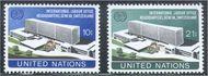 UNNY 244-45 10c-21c ILO Headquarters UN New York Mint NH UNNY244