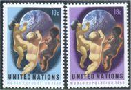 UNNY 252-53 10c-18c Population Year . UN New York Mint NH UNNY252