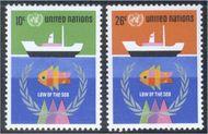 UNNY 254-55 10c-26c Law of the Sea . UN New York Mint NH UNNY254