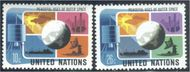 UNNY 256-57 10c-26c Peace-Outer Space UN New York Mint NH UNNY256