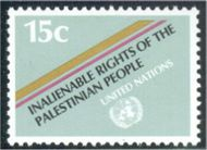 UNNY 343 15c Palestinian People F-VF NH 12168
