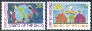 UNNY 593-4   30c,70c Childrens Rights unny593-4nh