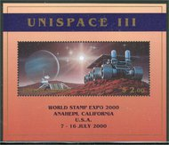 UNNY 763a $2 Unispace Souvenir Sht. Expo 2000 Overprint 15012